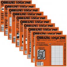 Obrazki logiczne x 9 nr 2, 3, 5, 7, 9, 10, 11, 14, 16 rabat 10%