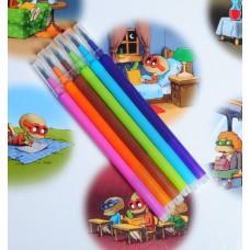 0.5 mm wkłady komplet 6 kolorów pasują do obudowy cienkopisu i długopisu