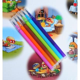 0.5 mm wkłady<br>komplet 6 kolorów<br>pasują do obudowy cienkopisu i długopisu