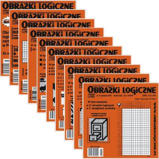 Obrazki logiczne x 8<br>nr 2, 3, 7, 9, 10, 11, 14, 16<br>rabat 10%