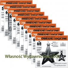 Wielopak Obrazki logiczne x 10 nr 59, 60, 61, 62, 63, 64, 65, 66, 67, 68 rabat 10%