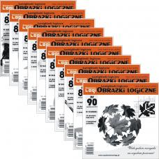 Obrazki logiczne x 10 nr 81, 82, 83, 84, 85, 86, 87, 88, 89, 90 rabat 10%
