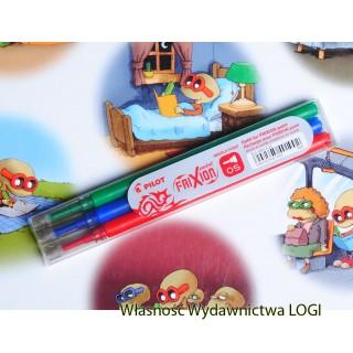 0.5 mm wkłady<br>komplet 3 kolorów<br>pasują do obudowy cienkopisu i długopisu