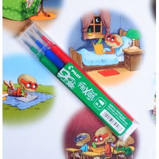 0.7 mm wkłady<br>komplet 3 kolorów<br>pasują do obudowy cienkopisu i długopisu
