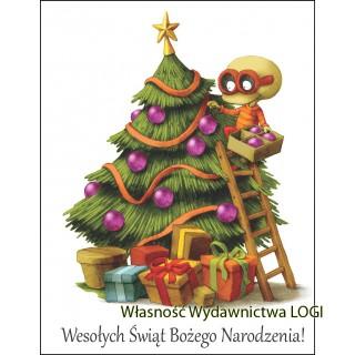 Pocztówka z Logim Boże Narodzenie