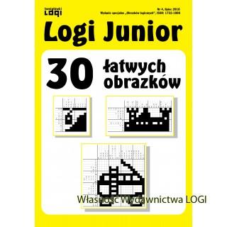 2018.07<br>Logi Junior nr 4<br>30 łatwych obrazków