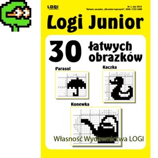 2016.02<br>Logi Junior nr 1<br>30 łatwych obrazków