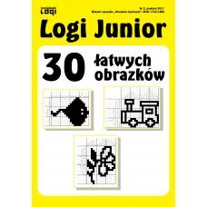 2017.12<br>Logi Junior nr 2<br>30 łatwych obrazków