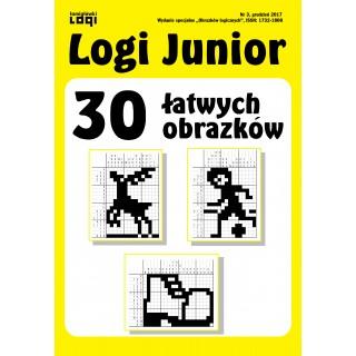 2017.12<br>Logi Junior nr 3<br>30 łatwych obrazków